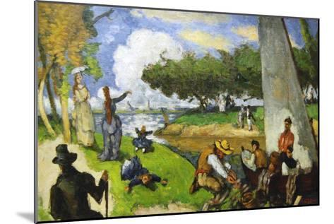 Fishermen - a Fantastic Scene-Paul C?zanne-Mounted Art Print