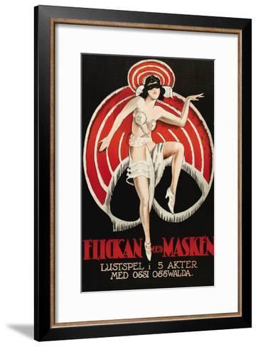 """Movies and Masks """"Flickan Med Masken""""--Framed Art Print"""