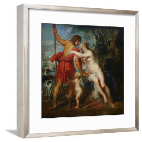 Venus and Adonis-Peter Paul Rubens-Framed Art Print