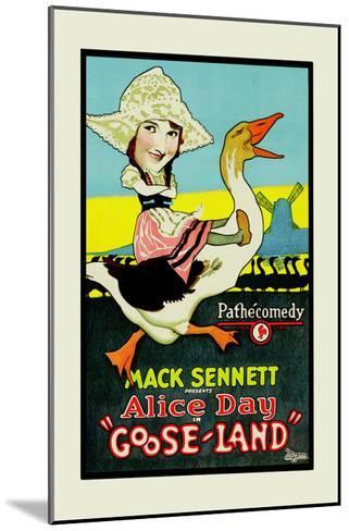Gooseland or Goosland-Mack Sennett-Mounted Art Print