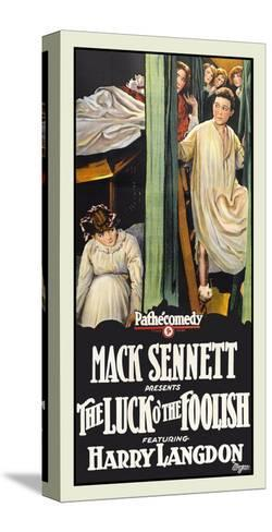 The Luck O' the Foolish-Mack Sennett-Stretched Canvas Print