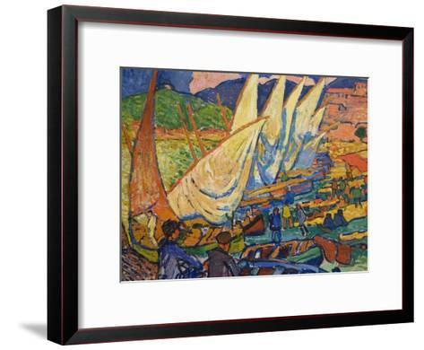 Fishing Boats, Collioure-Andre Derain-Framed Art Print