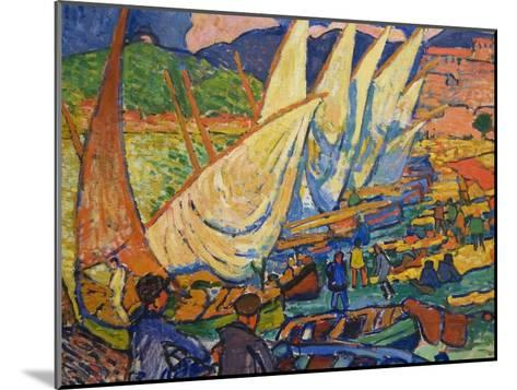 Fishing Boats, Collioure-Andre Derain-Mounted Art Print