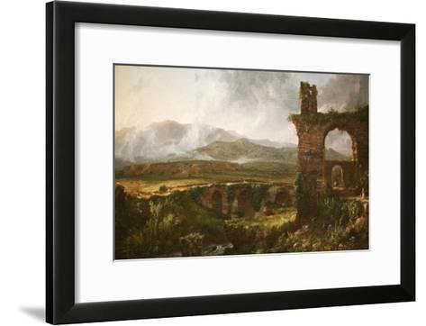 Morning View Near Tivoli-Thomas Cole-Framed Art Print