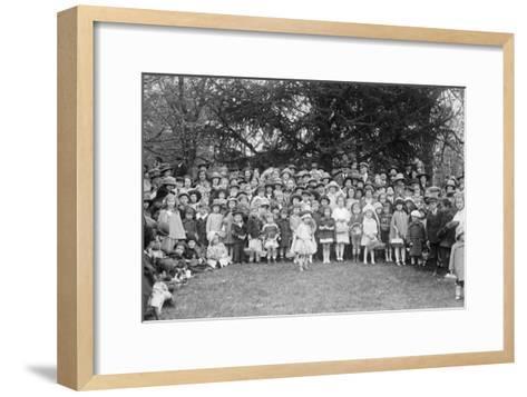 Easter Egg Rolling Children Pose on the White House Lawn--Framed Art Print