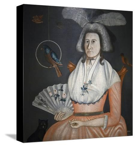 Lady with Her Pets, Molly Wales Fobes-Rufus Hathaway-Stretched Canvas Print