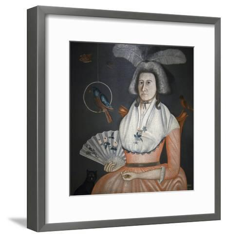 Lady with Her Pets, Molly Wales Fobes-Rufus Hathaway-Framed Art Print
