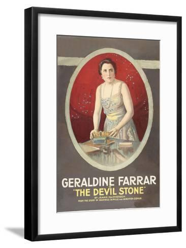 The Devil Stone--Framed Art Print