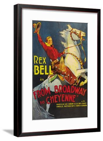 From Broadway to Cheyenne--Framed Art Print