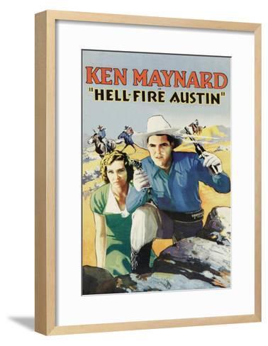 Hell-Fire in Austin--Framed Art Print