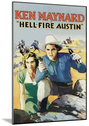 Hell-Fire in Austin--Mounted Art Print