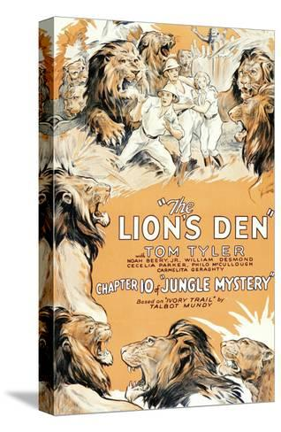 Jungle Mystery - the Lion's Den--Stretched Canvas Print