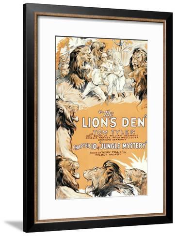 Jungle Mystery - the Lion's Den--Framed Art Print