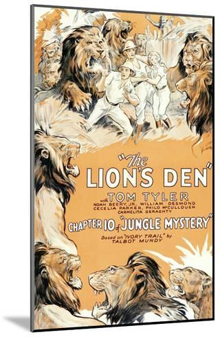 Jungle Mystery - the Lion's Den--Mounted Art Print