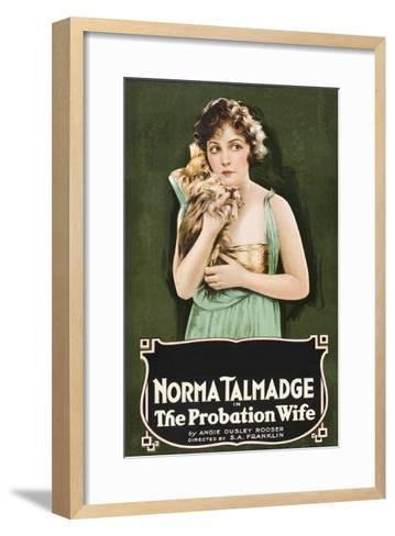 The Probation Wife--Framed Art Print