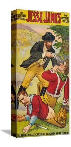 Jesse James--Stretched Canvas Print