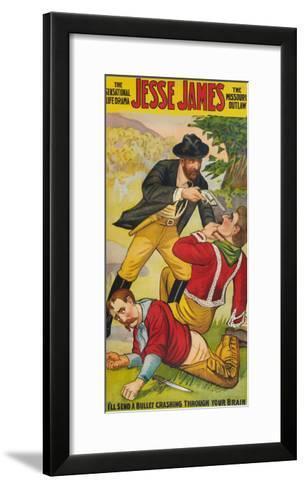 Jesse James--Framed Art Print