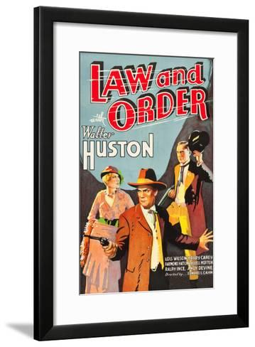 Law and Order--Framed Art Print