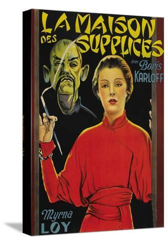 "Mask of Fu Manchu ""La Maison Des Supplices""--Stretched Canvas Print"