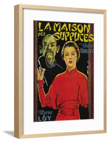 "Mask of Fu Manchu ""La Maison Des Supplices""--Framed Art Print"