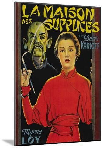"Mask of Fu Manchu ""La Maison Des Supplices""--Mounted Art Print"