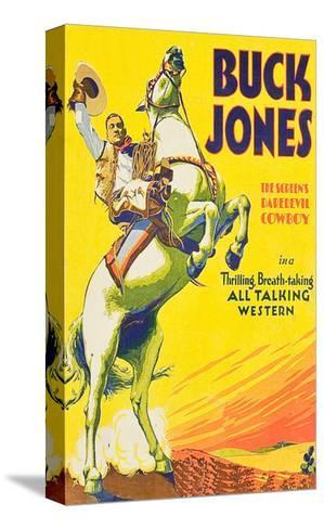 Buck Jones--Stretched Canvas Print