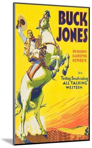Buck Jones--Mounted Art Print