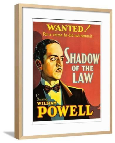 Shadow of the Law--Framed Art Print