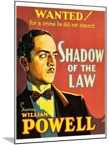 Shadow of the Law--Mounted Art Print