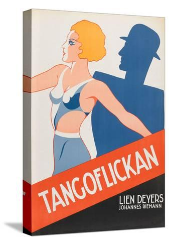 "Tango Movies ""Tangoflickan""--Stretched Canvas Print"