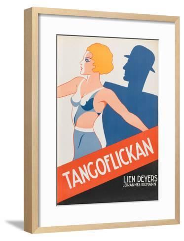 """Tango Movies """"Tangoflickan""""--Framed Art Print"""