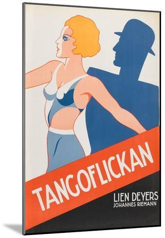 "Tango Movies ""Tangoflickan""--Mounted Art Print"