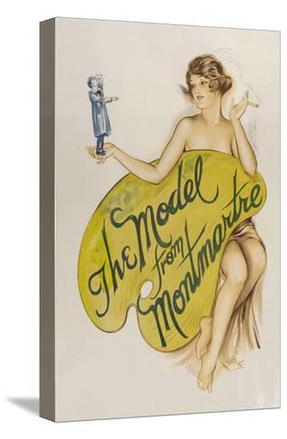 The Model from Montmartre--Stretched Canvas Print