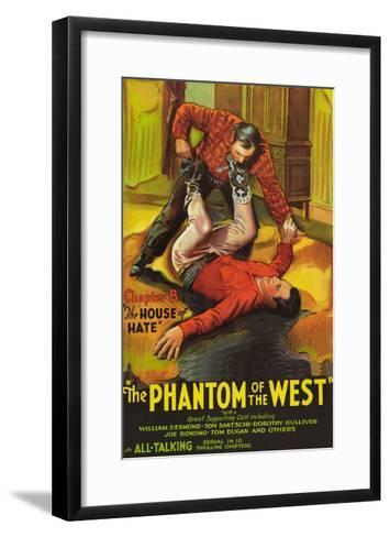 The Phantom of the West - House of Hate--Framed Art Print