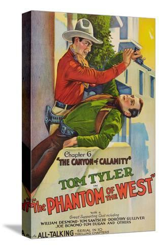 The Phantom of the West - Canyon of Calamity--Stretched Canvas Print