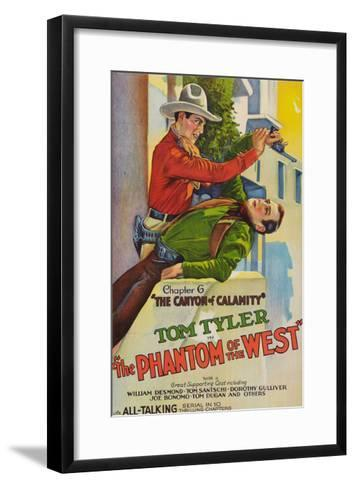 The Phantom of the West - Canyon of Calamity--Framed Art Print