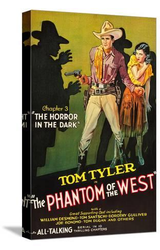 The Phantom of the West - Horror in the Dark--Stretched Canvas Print
