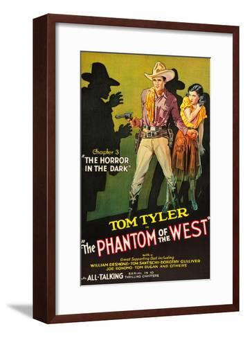 The Phantom of the West - Horror in the Dark--Framed Art Print