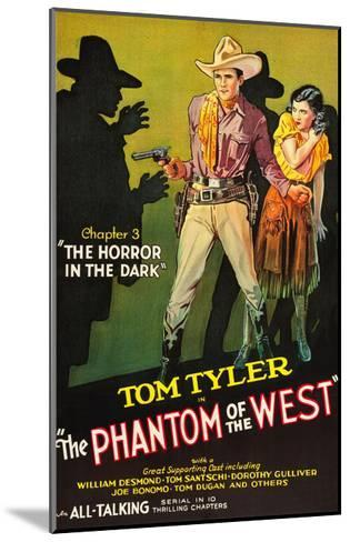 The Phantom of the West - Horror in the Dark--Mounted Art Print