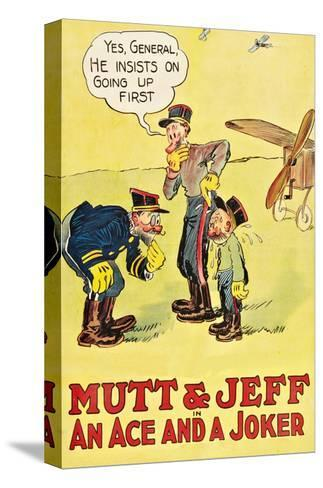 Mutt and Jeff - an Ace and a Joker--Stretched Canvas Print