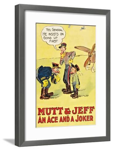 Mutt and Jeff - an Ace and a Joker--Framed Art Print