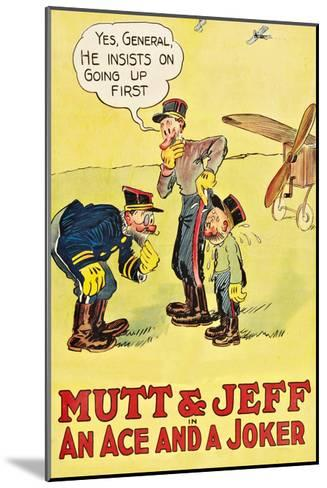Mutt and Jeff - an Ace and a Joker--Mounted Art Print