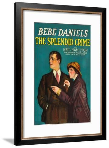 The Splendid Crime--Framed Art Print