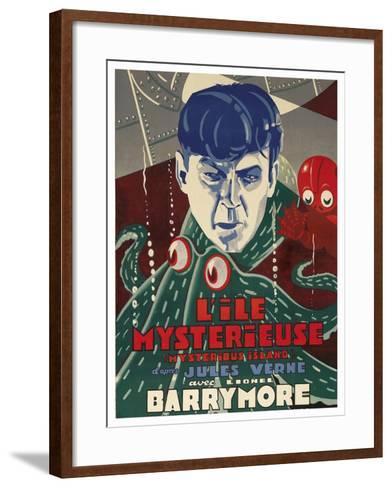 "Mysterious Island ""Lile Mysteriseus""--Framed Art Print"