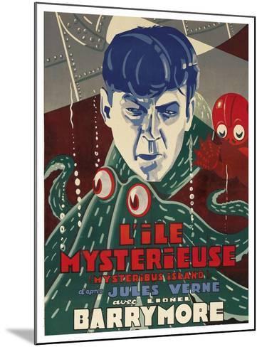 "Mysterious Island ""Lile Mysteriseus""--Mounted Art Print"