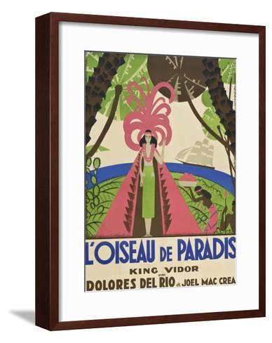 "Bird of Paradise ""L'Oiseau De Paradis""--Framed Art Print"