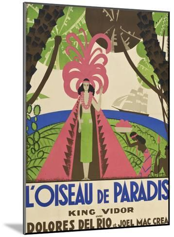 "Bird of Paradise ""L'Oiseau De Paradis""--Mounted Art Print"