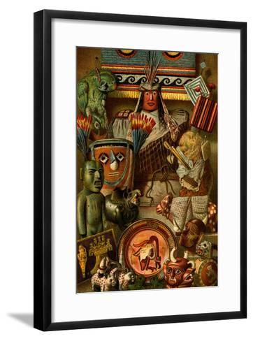 South American Indian Antiquities-F^W^ Kuhnert-Framed Art Print