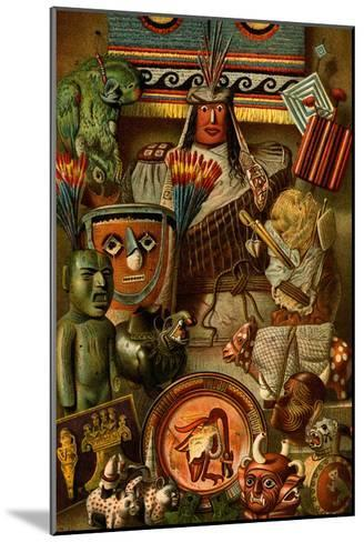 South American Indian Antiquities-F^W^ Kuhnert-Mounted Art Print