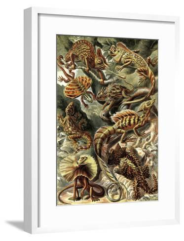 Lizards-Ernst Haeckel-Framed Art Print